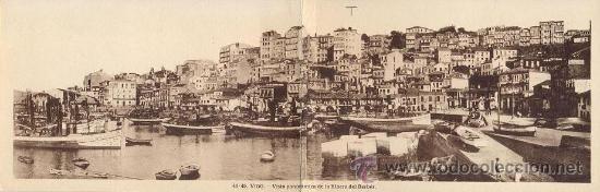 RARA POSTAL DOBLE DEL BERBES - VIGO - GALICIA EN EXCELENTE ESTADO (Postales - España - Galicia Antigua (hasta 1939))