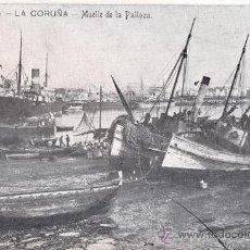 Postales: RRR POSTAL DE LA CORUÑA - MUELLE DE LA PALLOZA - EDICIONES FERRER. Lote 31539750