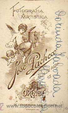 Postales: Fotografia tarjeta de visita. Jose Pacheco. Orense. Fotografia Artistica . Señora. - Foto 2 - 31578431