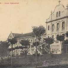 Postales: RRR POSTAL AÑOS 10 VERIN - ORENSE - OURENSE - HOTEL CABREIROA - PAPELERIA ELADIO FUENTES. Lote 31626391