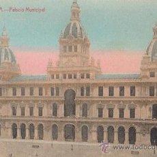 Postales: POSTAL AÑOS 10 COLOREADA DE LA CORUÑA - ENRIQUETA COMAS - PALACIO MUNICIPAL. Lote 31628581