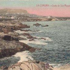 Postales: POSTAL AÑOS 10 COLOREADA DE LA CORUÑA - ENRIQUETA COMAS - COSTA DE SAN ROQUE. Lote 31628606