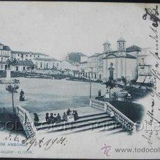 Postales: POSTAL EL FERROL CORUÑA PLAZA DE AMBOAGE . PAPELERIA EL CORREO GALLEGO CA AÑO 1900.. Lote 31920688