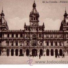Postales: TARJETA POSTAL LA CORUÑA, PALACIO MUNICIPAL 44, KALLMEYER Y GAUTIER. Lote 31902566