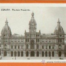 Postales: LA CORUÑA - PALACIO MUNICIPAL - ED. ZINCKE HERMANOS - SIN CIRCULAR. Lote 31916196