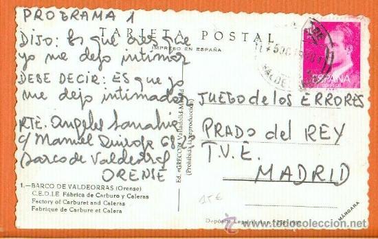 Postales: BARCO DE VALDEORRAS - ORENSE - C.E.D.I.E. FÁBRICA DE CARBURO Y CALERAS - Nº 1 ED. GRECOR AÑO 1958 - Foto 2 - 31920730