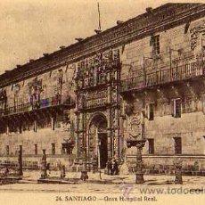 Postales: SANTIAGO Nº 24 GRAN HOSPITAL REAL FRAFOS. MADRID SIN CIRCULAR . Lote 32235443