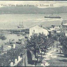 Postales: VIGO (PONTEVEDRA).- VISTA DESDE EL PASEO DE ALFONSO XII. Lote 32404149