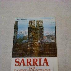 Postales: POSTAL DE SARRIA (LUGO) DÌPTICO.SARRIA EN EL CAMINO DE SANTIAGO .EDITORIAL MULHACEN. Lote 32669556