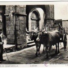 Postales: BONITA POSTAL - SANTIAGO DE COMPOSTELA (LA CORUÑA) - ALDEANO - BUEYES TIRANDO DE CARRETA - L. ROISIN. Lote 32951829