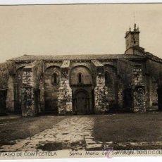 Postales: BONITA POSTAL - SANTIAGO DE COMPOSTELA (LA CORUÑA) - STA. MARIA DEL SAR (SIGLO XII) - L. ROISIN . Lote 32952003