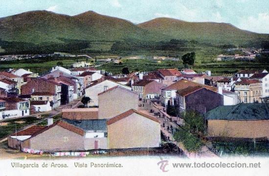 EXCEPCIONAL POSTAL VILLAGARCIA - PONTEVEDRA - FOTO MARTINEZ - AÑOS 10 - IMPECABLE - VISTA PANORAMICA (Postales - España - Galicia Antigua (hasta 1939))