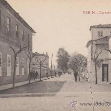 Postales: RRR POSTAL AÑOS 20 - VERIN - CARRETERA PORTUGAL - ORENSE - OURENSE - GALICIA. Lote 33496250