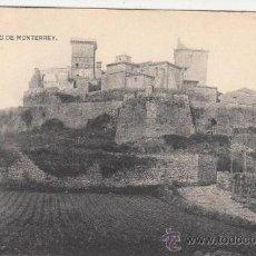 Postales: RRR POSTAL AÑOS 20 - VERIN - CASTILLO DE MONTERREY - ORENSE - OURENSE - GALICIA. Lote 33496257