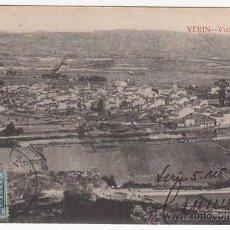 Postales: RRR POSTAL AÑOS 20 - VERIN - VISTA GENERAL DESDE EL CASTILLO - PUENTE - ORENSE - OURENSE - GALICIA. Lote 33496266