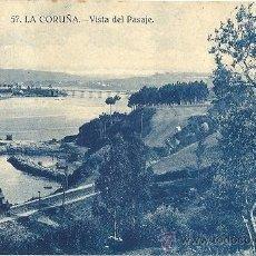 Postales: 1399A - LA CORUÑA - VISTA DEL PASAJE - GRAFOS MADRID. Lote 34167587