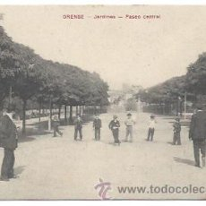 Postales: ORENSE. JARDINES. PASEO CENTRAL. (ED. M . MOURE). Lote 34290000
