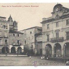 Postales: ORENSE. PLAZA DE LA CONSTITUCION Y PALACIO MUNICIPAL. (ED. M . MOURE). Lote 34290036