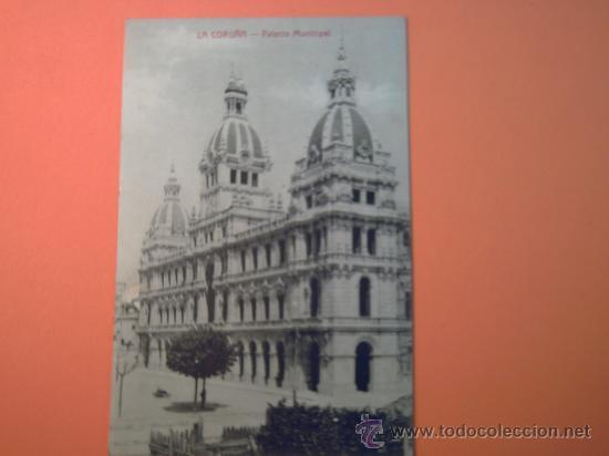 LA CORUÑA - PALACIO MUNICIPAL - PAPELERIA DE LA FUENTE- CANTÓN PEQUEÑO,13 (Postales - España - Galicia Moderna (desde 1940))