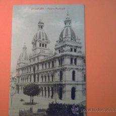 Postales: LA CORUÑA - PALACIO MUNICIPAL - PAPELERIA DE LA FUENTE- CANTÓN PEQUEÑO,13. Lote 34273036
