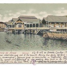 Postcards - VILLAGARCÍA DE AROSA. BALNEARIO. (FOTO MARTÍNEZ). CIRCULADA EN 1909. - 34398494