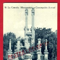 Cartes Postales: POSTAL LA CORUÑA, MONUMENTO A CONCEPCION ARENAL, P73460. Lote 34439260