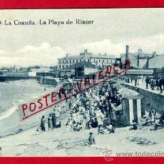 Cartoline: POSTAL LA CORUÑA, LA PLAYA DE RIAZOR, P73468. Lote 34439444