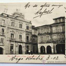 Postales: VIGO. PLAZA Y CASA CONSISTORIAL. FECHADA EN OCTUBRE 1902. Lote 34946981