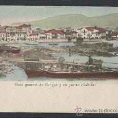 Postales: CANGAS - VISTA GENERAL DE CANGAS Y SU PUERTO - DESIDERIO ADE - (12.162). Lote 35073025