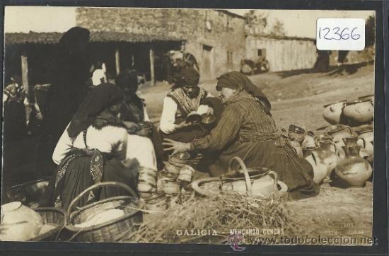 GALICIA - MERCANDO CUNCAS - FOTOGRAFIA FERRER - (12.366) (Postales - España - Galicia Antigua (hasta 1939))
