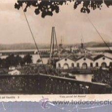 Postales: TARJETA POSTAL FOTOGRÁFICA EL FERROL DEL CAUDILLO, VISTA PARCIAL DEL ARSENAL, ARRIBAS. Lote 35549281