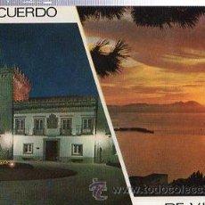 Postales: TARJETA POSTAL VIGO, PALACIO QUIÑONES DE LEÓN, PUESTA DE SOL, DOMÍNGUEZ. Lote 35682700