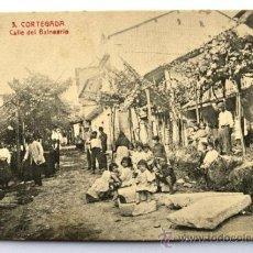 Postales: CORTEGADA. CALLE DEL BALNEARIO. OURENSE PP. S. XX. Lote 35683165