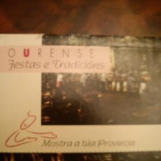 Postales: CUADERNO DE 20 POSTALES FIESTAS Y TRADICION OURENSANAS .DIPUTACION Y XUNTA DE GALICIA 1995. Lote 35954639