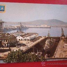 Postales: POSTAL EL FERROL DEL CAUDILLO - LA DARSENA - 1965 - NO CIRCULADA - ESCRITA EN 1971 - DOMINGUEZ 8. Lote 35999235