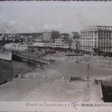 Postales: POSTAL FOTOGRAFICA DE LA CORUÑA - MUELLE DE TRASATLANTICOS Y HOTEL EMBAJADOR - ARRIBAS. Lote 36052839
