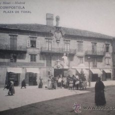 Postales: POSTAL DE SANTIAGO DE COMPOSTELA - PLAZA DEL TORAL - IMPECABLE. Lote 36052936
