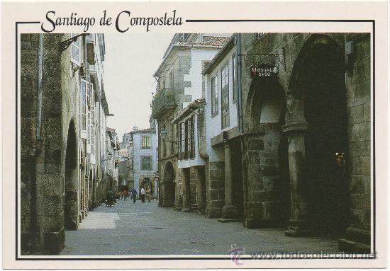 SANTIAGO DE COMPOSTELA.- ``RUA DE VILLAR´´. (Postales - España - Galicia Moderna (desde 1940))