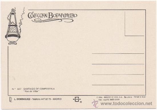 Postales: SANTIAGO DE COMPOSTELA.- ``RUA DE VILLAR´´. - Foto 2 - 36177974