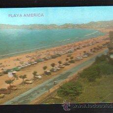 Postales: TARJETA POSTAL DE NIGRAN - PLAYA AMERICA, AL FONDO PAJON. 3040. POSTALES FAMA. Lote 36232551