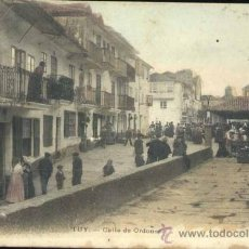 Postales: TUY (PONTEVEDRA).- CALLE DE ORDOÑEZ. Lote 36453757