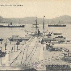 Postales: IMPECABLE POSTAL DE VIGO - 1910 - HAUSER Y MENET - 1563 - MUELLE FERROCARRIL Y ESTATUA DE ELDUAYEN. Lote 36936933