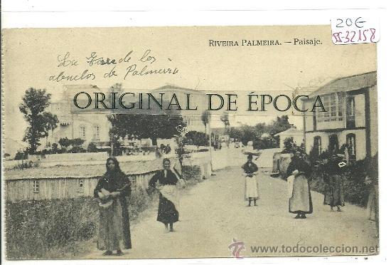 (PS-32158)POSTAL DE RIVEIRA PALMEIRA-PAISAJE (Postales - España - Galicia Antigua (hasta 1939))