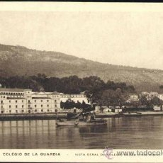 Postales: COLEGIO DE LA GUARDIA (PONTEVEDRA.- VISTA GENERAL DEL COLEGIO DESDE EL RÍO MIÑO. Lote 37212376