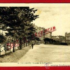 Cartoline: POSTAL LA CORUÑA, GALICIA, AVENIDA DE LA REPUBLICA, P78396. Lote 37890350