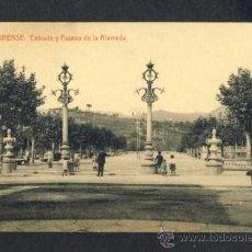 Postales: POSTAL DE ORENSE: ENTRADA Y PASEOS DE LA ALAMEDA (THOMAS NUM. 13). Lote 40724616