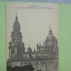 Postales: CATEDRAL.TORRE DEL RELOJ Y CABECERA TEMPLO. SANTIAGO. LA CORUÑA. Lote 38035491