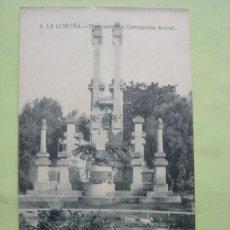 Postales: MONUMENTO A CONCEPCIÓN ARENAL. LA CORUÑA. Lote 38035568