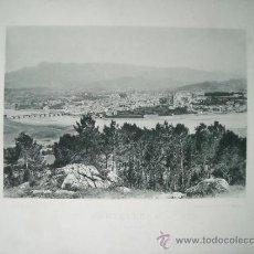 Postales: LAMINA FOTO HAUSER Y MENET, 1891, PONTEVEDRA, VISTA GENERAL. Lote 39562980