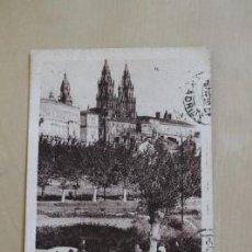 Postales: POSTAL. SANTIAGO DE COMPOSTELA. VISTA ARTÍSTICA. ROISIN.. Lote 38260611
